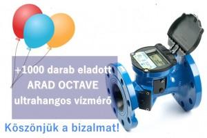 Arad Octave ultrahangos vízmérő 1000 darab eladás